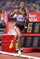 Eva Cherono of Kenya competing in the Women's 3000m during the Muller Grand Prix  IAAF Diamond League meeting at Alexander Stadium, Perry Barr, Birmingham.<br /> Picture by Alan Stanford +44 7915 056117<br /> 18/08/2018