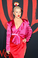 """LOS ANGELES - MAR 9:  Christina Aguilera at the """"Mulan"""" Premiere at the Dolby Theater on March 9, 2020 in Los Angeles, CA"""