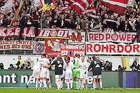 Bayern jubeln ueber die Meisterschaft mit ihren Fans