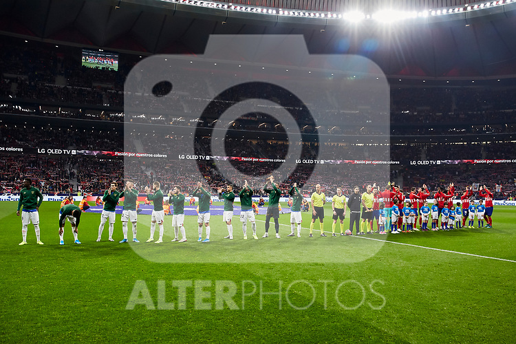 Players of Atletico de Madrid and Athletic Club de Bilbao during the La Liga match between Atletico de Madrid and Athletic Club de Bilbao at Wanda Metropolitano Stadium in Madrid, Spain. October 26, 2019. (ALTERPHOTOS/A. Perez Meca)