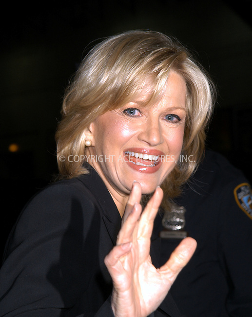 Diane Sawyer arrives at Ed Sullivan Theater to make an appearance on 'The Late Show With David Letterman.' New York, February 25, 2004. Please byline: AJ SOKALNER/ACE Pictures.   ..*PAY-PER-USE*      ....IMPORTANT: Please note that our old trade name, NEW YORK PHOTO PRESS (NYPP), is replaced by new name, ACE PICTURES. New York Photo Press and ACE Pictures are owned by All Celebrity Entertainment, Inc.......All Celebrity Entertainment, Inc:  ..contact: Alecsey Boldeskul (646) 267-6913 ..Philip Vaughan (646) 769-0430..e-mail: info@nyphotopress.com