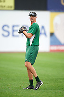 Lynchburg Hillcats pitcher Jordan Milbrath (39) during practice before a game against the Wilmington Blue Rocks on June 3, 2016 at Judy Johnson Field at Daniel S. Frawley Stadium in Wilmington, Delaware.  Lynchburg defeated Wilmington 16-11 in ten innings.  (Mike Janes/Four Seam Images)