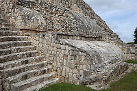 Detail of the vaulted rooms, Five-Floor building, Puuc architectural style, Late Classic Period, 600 - 900 AD, Edzna, Campeche, Mexico. Picture by Manuel Cohen