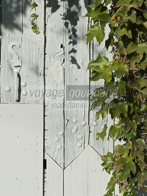 Europe/France/Languedoc-Roussillon/30/Gard/Saint-Bonnet-du-Gard: Détail vieille porte