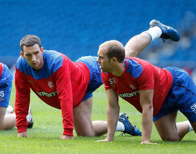 Edinburgh boys Lee Wallace and Steven Whittaker