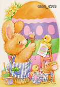 Ron, EASTER, paintings, rabbit, painting egg(GBSG6309,#E#)