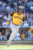 Yoan Moncada of the World Team runs the bases during a game against the USA Team during The Futures Game at Petco Park on July 10, 2016 in San Diego, California. World Team defeated USA Team, 11-3. (Larry Goren/Four Seam Images)