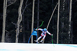 December 1, 2017:  Switzerland's, Patrick Kueng #58, charges through one of the final jumps in the Super G competition during the FIS Audi Birds of Prey World Cup, Beaver Creek, Colorado.