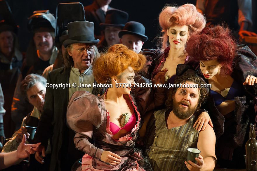 London, UK. 02.06.2014. English National Opera presents BENVENUTO CELLINI, music by Hector Berlioz, libretto by Leon de Wailly and Henri Auguste Barbier, at the London Coliseum. Terry Gilliam, directs. Picture shows: Michael Spyres (Cellini). Photograph © Jane Hobson.