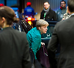 Brussels, Belgium -- December 15, 2017 -- European Council, EU-summit, meeting of Heads of State / Government; here, Angela MERKEL, Federal Chancellor of Germany, arrives at the venue on the second day of the summit -- Photo: © HorstWagner.eu