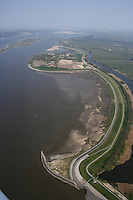 Deutschland, Hamburg, Niedersachsen, Hahnoefer Sand, Ausgleichsflaeche Muehlenberger Loch, Elbe, Deichrueckbau
