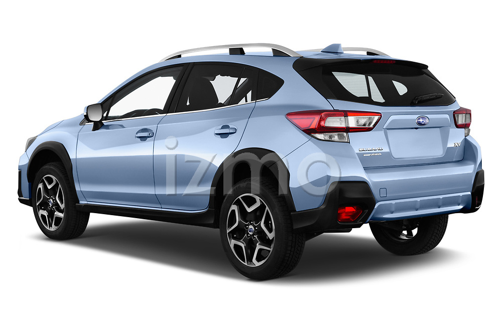 Car pictures of rear three quarter view of a 2018 Subaru XV Premium 5 Door SUV angular rear