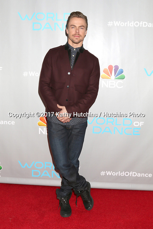 "LOS ANGELES - JAN 25:  Derek Hough at the ""World of Dance"" Photo Call at Universal Studios on January 25, 2017 in Universal City, CA"
