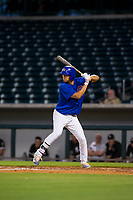 AZL Cubs left fielder Kwang-Min Kwon (27) at bat against the AZL White Sox on August 13, 2017 at Sloan Park in Mesa, Arizona. AZL White Sox defeated the AZL Cubs 7-4. (Zachary Lucy/Four Seam Images)