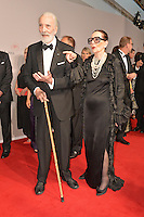 """Sir Christopher Lee and wife Gitte Lee attending the """"Rosenball"""" Charity Gala in favor of the """"Stiftung Deutsche Schlaganfallhilfe"""" held at the Hotel Intercontinental in Berlin, Germany, 09.06.2012...Credit: Michael Wiese/face to face /MediaPunch Inc. ***FOR USA ONLY*** NORTEPHOTO.COM"""