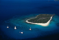 Sandy Cay Island aerial, Tortola, BVI