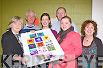 Ameilie Gagne presents a painting to the Pallative Day Care centre, Tralee on behalf of the adult art class who held their exhibition in Killarney Community College on Thursday evening l-r: Monica Sheehan, Pat Doolan, Amelie Gagne, John Keane, Carol Spellman, Mary B O'Sullivan..