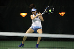 21 February 2017: UNC's Alexa Graham. The University of North Carolina Tar Heels hosted the Appalachian State University Mountaineers at the Cone-Kenfield Tennis Center in Chapel Hill, North Carolina in a Women's College Tennis match. North Carolina won the match 6-1.