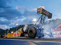 Jun 16, 2017; Bristol, TN, USA; NHRA top fuel driver Leah Pritchett during qualifying for the Thunder Valley Nationals at Bristol Dragway. Mandatory Credit: Mark J. Rebilas-USA TODAY Sports