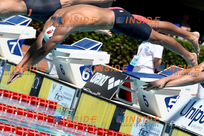 Florent Manaudou<br /> 50m Freestyle Men<br /> Roma 13/6/2013 Piscina del Foro Italico <br /> Nuoto 50mo trofeo Settecolli<br /> Settecolli 50th International swimming trophy <br /> Foto Antonietta Baldassarre Insidefoto