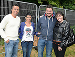 Gary and Julieanne Kelly and Tony and Jenny O'Brien pictured at the Bon Jovi concert at Slane Castle. Photo:Colin Bell/pressphotos.ie