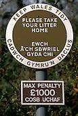 Dual language, Welsh/English roadsign in Wales..