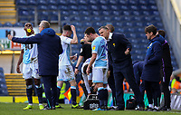 Blackburn Rovers manager Tony Mowbray gives instructions to Corry Evans during a break in play<br /> <br /> Photographer Alex Dodd/CameraSport<br /> <br /> The EFL Sky Bet Championship - Blackburn Rovers v Stoke City - Saturday 6th April 2019 - Ewood Park - Blackburn<br /> <br /> World Copyright © 2019 CameraSport. All rights reserved. 43 Linden Ave. Countesthorpe. Leicester. England. LE8 5PG - Tel: +44 (0) 116 277 4147 - admin@camerasport.com - www.camerasport.com