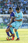 Luis Alberto Suarez Diaz of FC Barcelona (R) fights for the ball with \l during the La Liga 2017-18 match between CD Leganes vs FC Barcelona at Estadio Municipal Butarque on November 18 2017 in Leganes, Spain. Photo by Diego Gonzalez / Power Sport Images