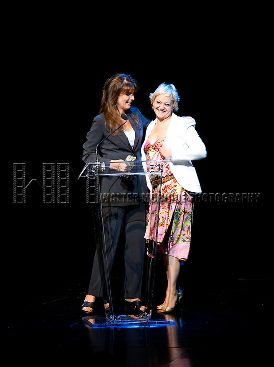 Lucie Arnaz (presenter) & Maria Friedman (winner).attending The 62nd Annual Theatre World Awards at Studio 54 in New York City..June 6, 2006.© Walter McBride / .