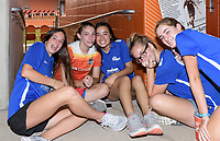 Houston, TX - Saturday July 22, 2017: Fans during a weather delay prior to a regular season National Women's Soccer League (NWSL) match between the Houston Dash and the Boston Breakers at BBVA Compass Stadium.