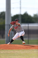 Andrew Roberts (61) of Trinity Prep High School in Altomante Springs, Florida during the Under Armour Baseball Factory National Showcase, Florida, presented by Baseball Factory on June 13, 2018 the Joe DiMaggio Sports Complex in Clearwater, Florida.  (Nathan Ray/Four Seam Images)