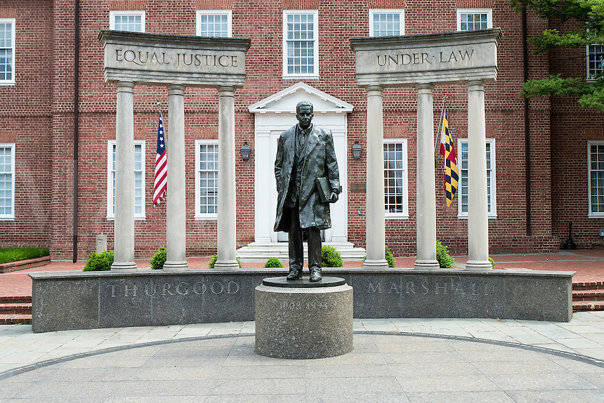 Supreme court justice Thurgood Marshall  sculpture Annapolis, Maryland, USA