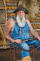 D. C. Smitty (Smitty), rustic log cabin, Glennallen, Alaska.
