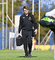 20190228 - LARNACA , CYPRUS : Belgian Arne Jaspers pictured during a Matchday -1 training from The Belgian Red Flames prior to their game against the women team of Austria , on Thursday 28 February 2019 at the Alpha Sports Grounds in Larnaca , Cyprus . This will be the second game in group C for Belgium during the Cyprus Womens Cup 2019 , a prestigious women soccer tournament as a preparation on the European Championship 2021 qualification duels. PHOTO SPORTPIX.BE | DAVID CATRY