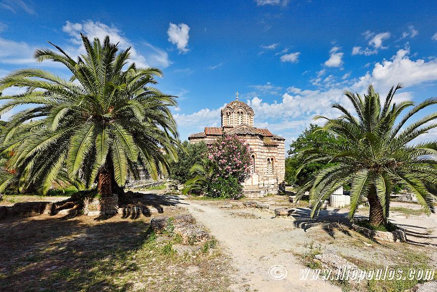Agii Apostoli Solaki church (10th c. A.D.) in the Ancient Athenian Agora, Greece