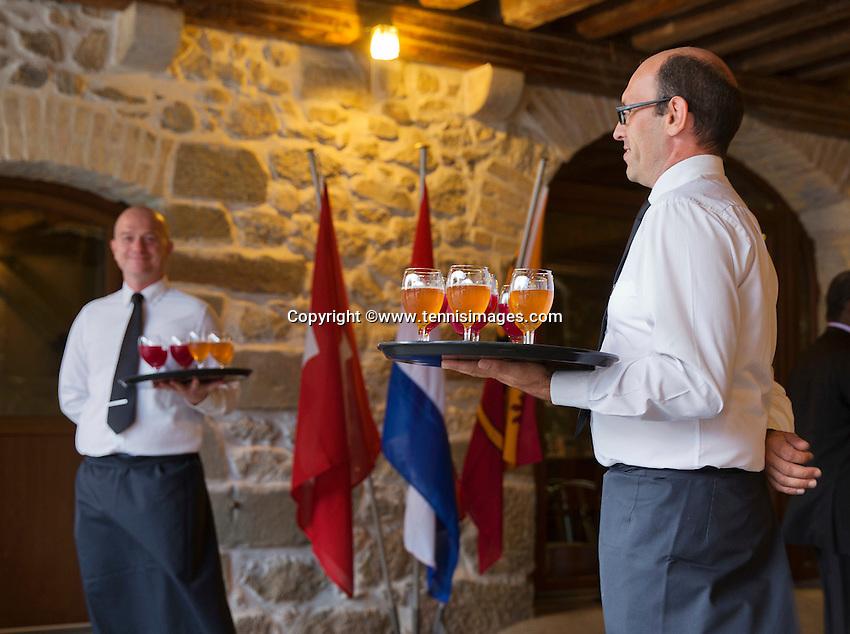 Switserland, Genève, September 16, 2015, Tennis,   Davis Cup, Switserland-Netherlands, location of the official diner, Domaine du Clos Du Chateau.<br /> Photo: Tennisimages/Henk Koster