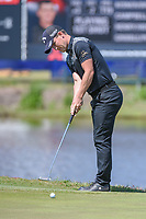 Chris Paisley (ENG) watches his putt on 17 during Round 2 of the Zurich Classic of New Orl, TPC Louisiana, Avondale, Louisiana, USA. 4/27/2018.<br /> Picture: Golffile | Ken Murray<br /> <br /> <br /> All photo usage must carry mandatory copyright credit (&copy; Golffile | Ken Murray)