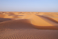 Sand dunes in Sahara Desert, Tunisia, Ksar Ghilane