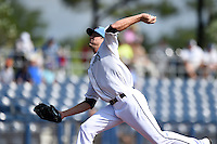 Charlotte Stone Crabs pitcher Drew Smyly (24) delivers a pitch during a game against the Daytona Tortugas on April 14, 2015 at Charlotte Sports Park in Port Charlotte, Florida.  Charlotte defeated Daytona 2-0.  (Mike Janes/Four Seam Images)