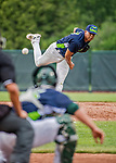 22 June 2017: Vermont Lake Monsters pitcher Argenis Blanco on the mound against the Brooklyn Cyclones at Centennial Field in Burlington, Vermont. The Lake Monsters fell to the Cyclones 5-3 in NY Penn League action. Mandatory Credit: Ed Wolfstein Photo *** RAW (NEF) Image File Available ***