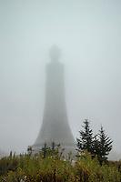 Veterans War Memorial Tower at the peak of Mount Greylock, Massachusetts, USA
