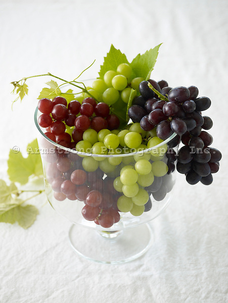 Green, Red, and Black Grapes