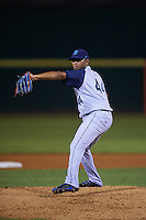 Brooklyn Cyclones pitcher Jose Celas (44) delivers a pitch during the second game of a doubleheader against the Connecticut Tigers on September 2, 2015 at Senator Thomas J. Dodd Memorial Stadium in Norwich, Connecticut.  Connecticut defeated Brooklyn 2-1.  (Mike Janes/Four Seam Images)