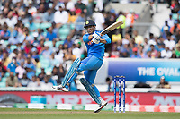MS Dhoni (India) pulls behind square during India vs New Zealand, ICC World Cup Warm-Up Match Cricket at the Kia Oval on 25th May 2019