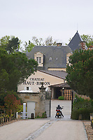 motorbike at entrance chateau haut brion pessac leognan graves bordeaux france