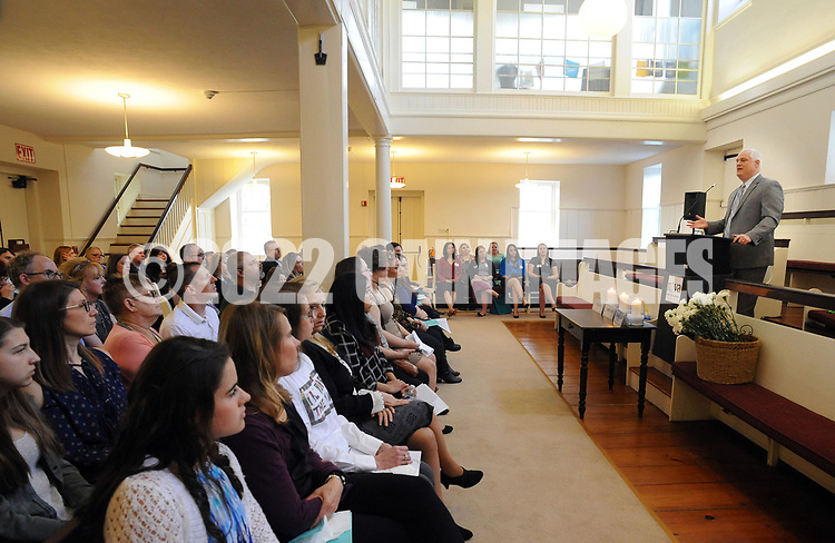 Bucks County District Attorney Matt Weintraub makes remarks during the annual Candlelight Vigil for crime victims Tuesday April 4, 2017 at Friends Meetinghouse in Newtown, Pennsylvania. NOVA (Network of Victims Assistance) hosted the event in which survivors spoke of their experiences as victims of crime. (Photo by William Thomas Cain)