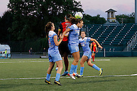Rochester, NY - Friday July 01, 2016: Chicago Red Stars forward Sofia Huerta (11), Western New York Flash midfielder Abby Erceg (6) during a regular season National Women's Soccer League (NWSL) match between the Western New York Flash and the Chicago Red Stars at Rochester Rhinos Stadium.
