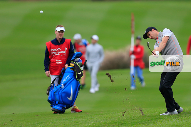 Ross Fisher (ENG) on the 18th during round 3 of the WGC-HSBC Champions, Sheshan International GC, Shanghai, China PR.  29/10/2016<br /> Picture: Golffile | Fran Caffrey<br /> <br /> <br /> All photo usage must carry mandatory copyright credit (&copy; Golffile | Fran Caffrey)