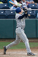 August 7, 2007: Catcher Lars Davis of the Tri-City Dust Devils during an at-bat against the Everett AquaSox in a Northwest League game at Everett Memorial Stadium in Everett, Washington.