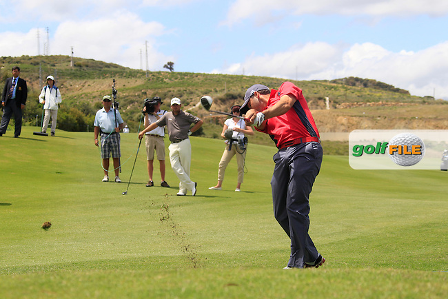 Sergio Garcia (ESP) plays his 2nd shot on the 8th hole during Saturday afternoon's Quarter Final Matches of the Volvo World Matchplay Championship at Finca Cortesin, Casares, Spain 19th May 2012 (Photo Eoin Clarke/www.golffile.ie)